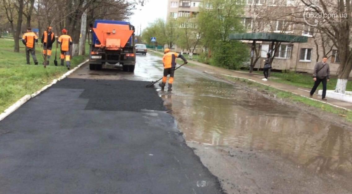 """Горожан возмутило, как """"Мариупольавтодор"""" работает под дождем(ФОТО, ВИДЕО), фото-2"""