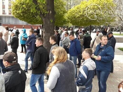 """В Мариуполе члены независимого профсоюза митинговали против мизерных зарплат и произвола на """"Азовстали"""" (ФОТО), фото-3"""