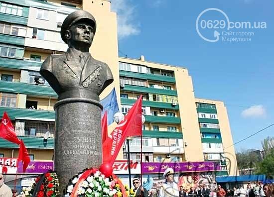 """В Мариуполе открывали памятник Лунину, устанавливали мемориальную доску памяти погибших милиционеров и освобождали горсовет от """"ополченцев..., фото-27"""