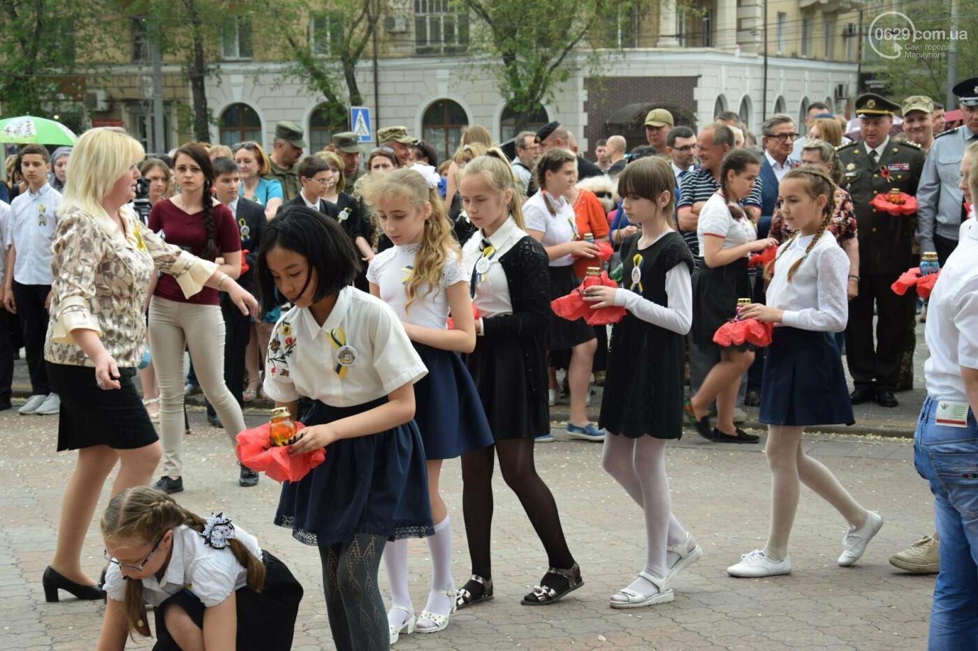 День памяти и примирения в Мариуполе  второй год проходит под дождем (ФОТО, ВИДЕО), фото-2