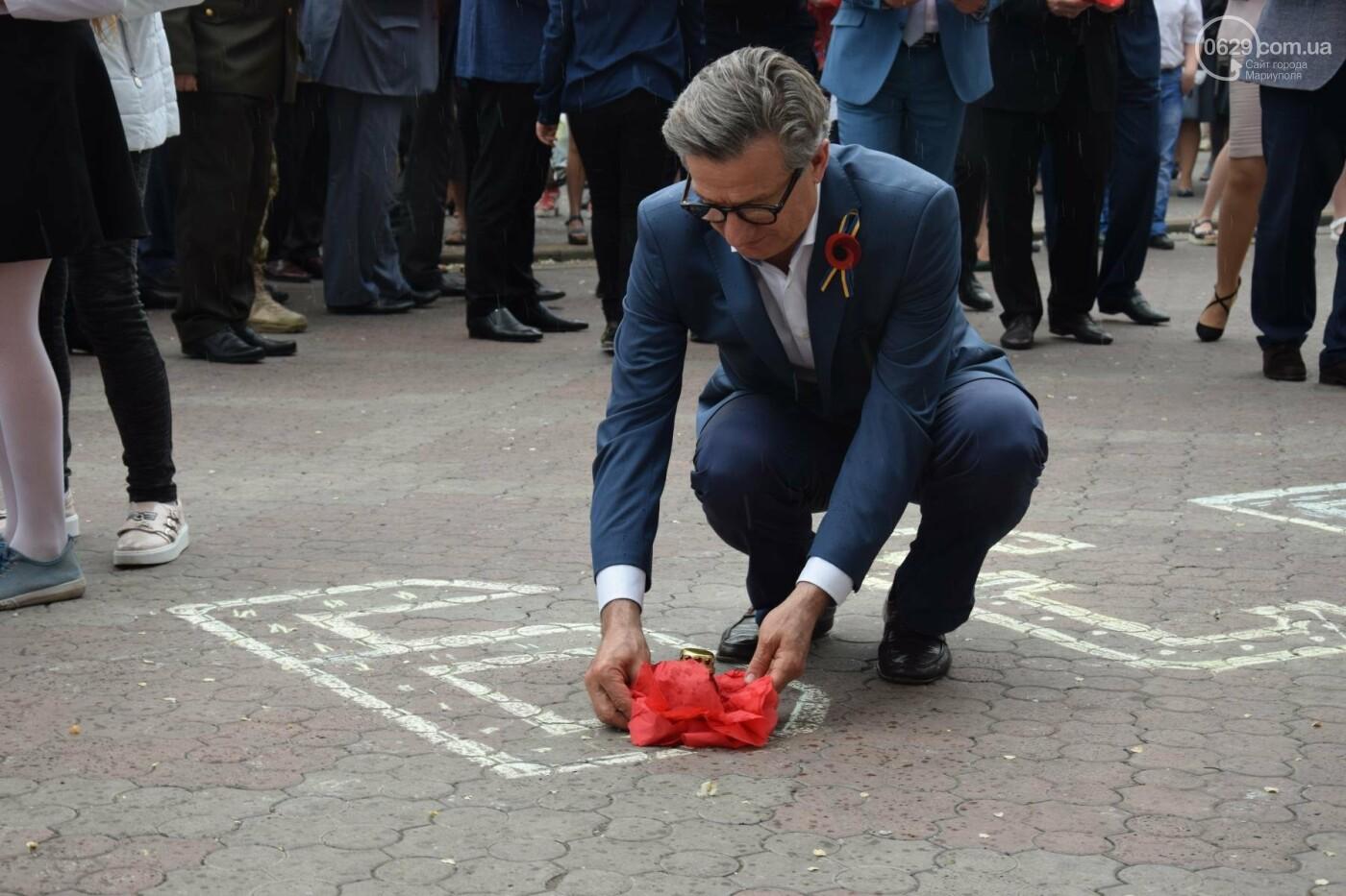 День памяти и примирения в Мариуполе  второй год проходит под дождем (ФОТО, ВИДЕО), фото-6
