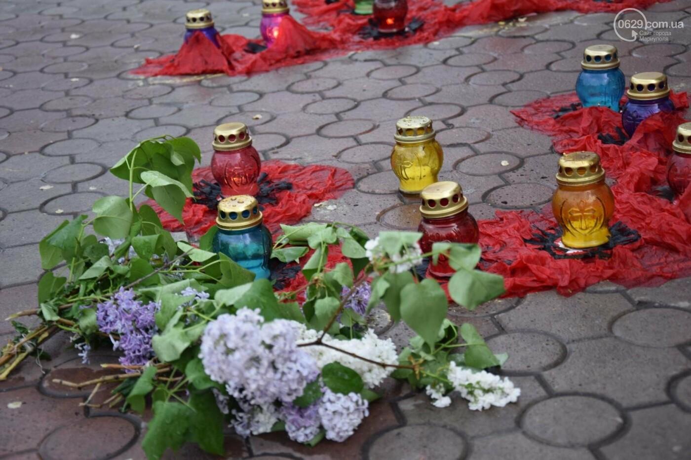 День памяти и примирения в Мариуполе  второй год проходит под дождем (ФОТО, ВИДЕО), фото-9