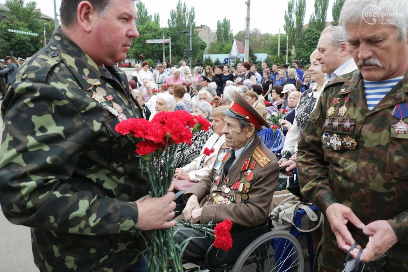 Как в  Мариуполе отметили 73-ю годовщину Победы, - ФОТО, ВИДЕО, фото-16