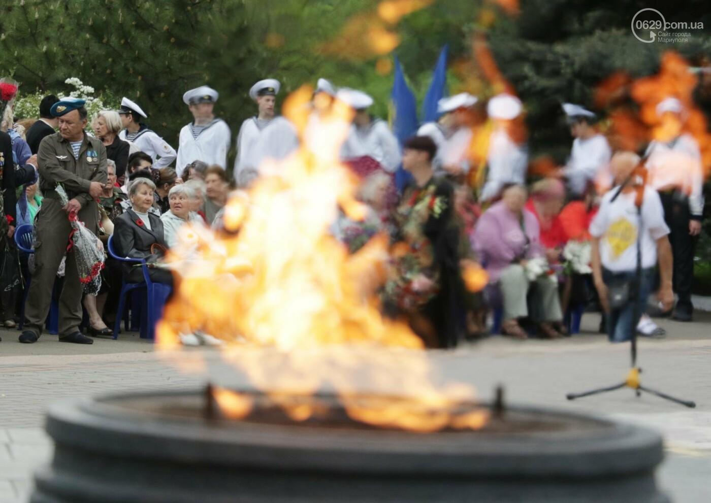 Как в  Мариуполе отметили 73-ю годовщину Победы, - ФОТО, ВИДЕО, фото-3