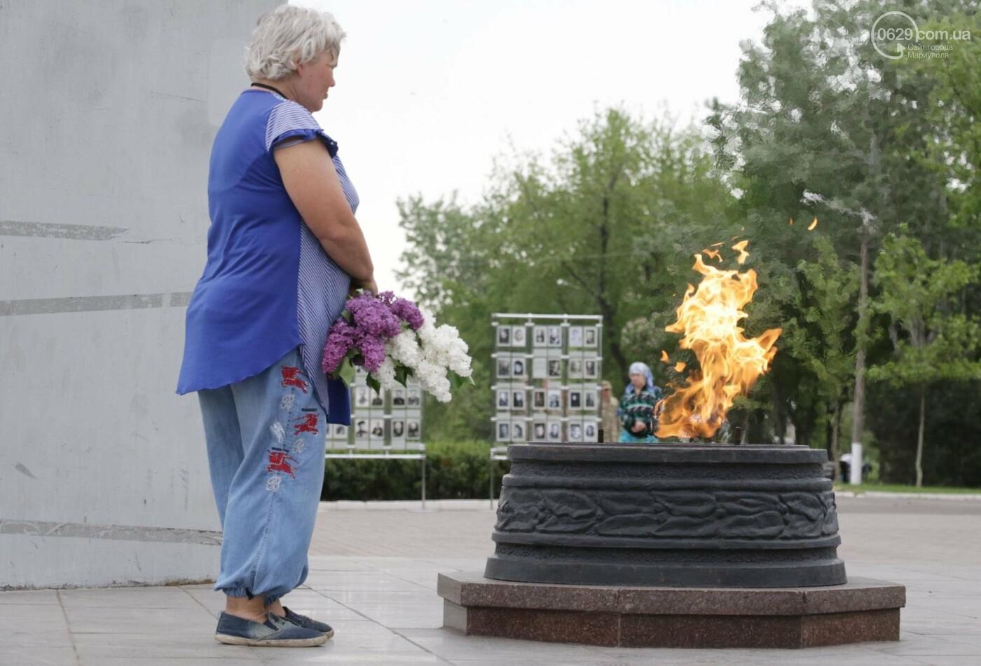 Как в  Мариуполе отметили 73-ю годовщину Победы, - ФОТО, ВИДЕО, фото-12