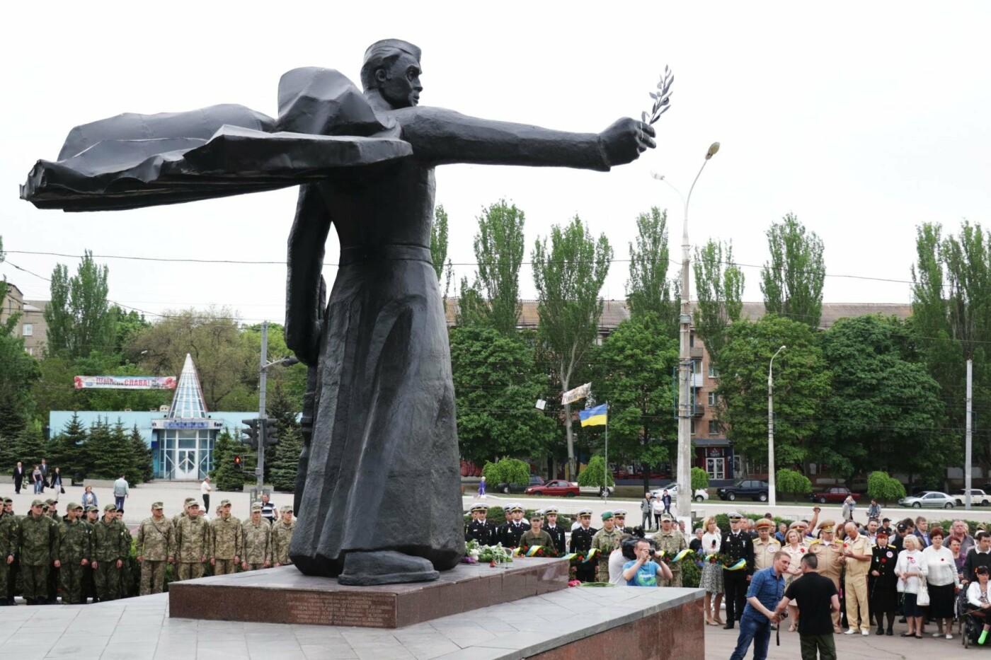 Как в  Мариуполе отметили 73-ю годовщину Победы, - ФОТО, ВИДЕО, фото-4