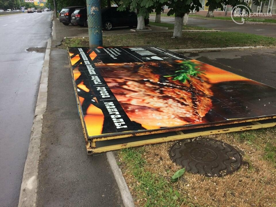 В Мариуполе демонтируют билборды, - ФОТОФАКТ, фото-5