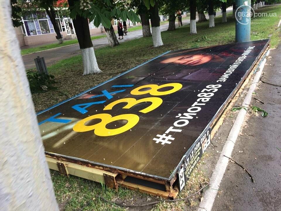 В Мариуполе демонтируют билборды, - ФОТОФАКТ, фото-4