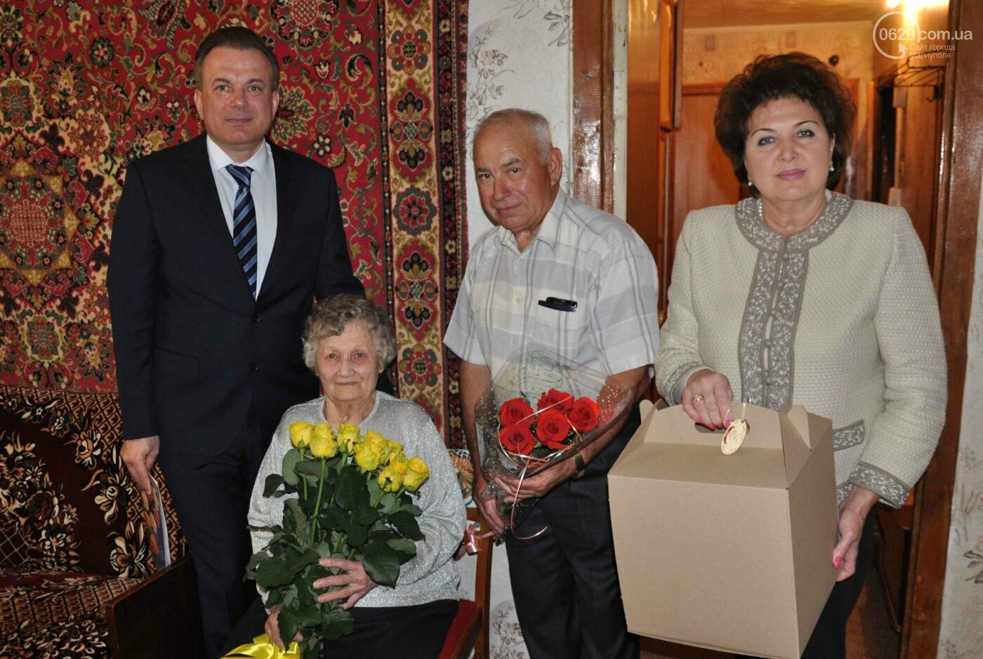 Героя труда Мариупольского молокозавода поздравили с 87-летием, фото-1