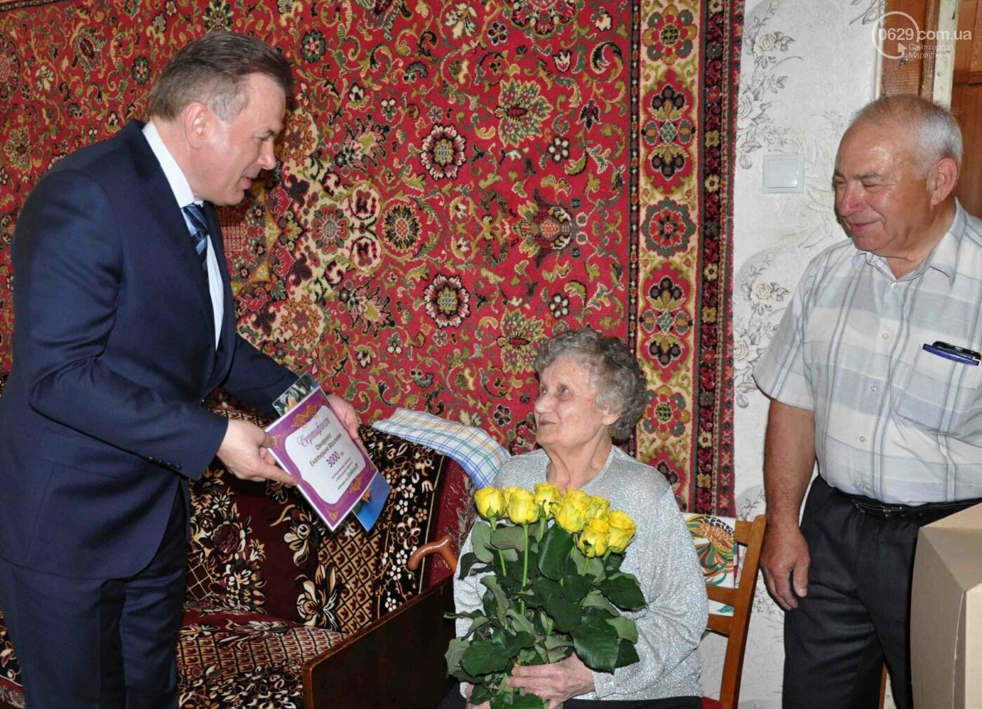 Героя труда Мариупольского молокозавода поздравили с 87-летием, фото-2