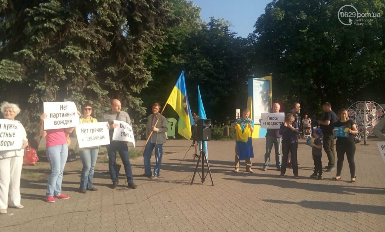 """""""Нет! Выборам по закону Януковича"""". В Мариуполе прошла акция в поддержку законодательной реформы, - ФОТО, фото-2"""