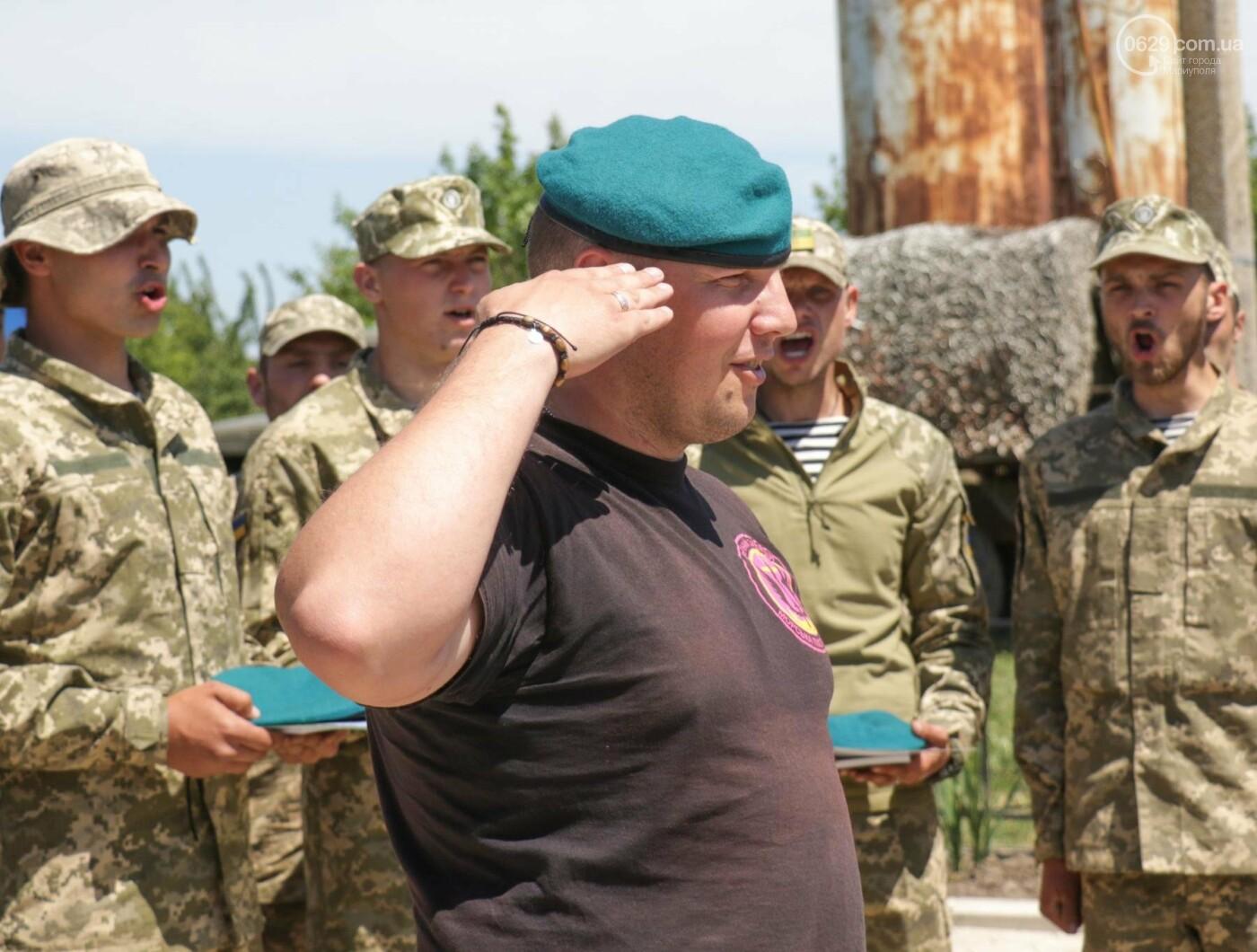 Под Мариуполем морпехи  приняли присягу и получили почетный знак от волонтеров, - ФОТО, ВИДЕО, фото-2