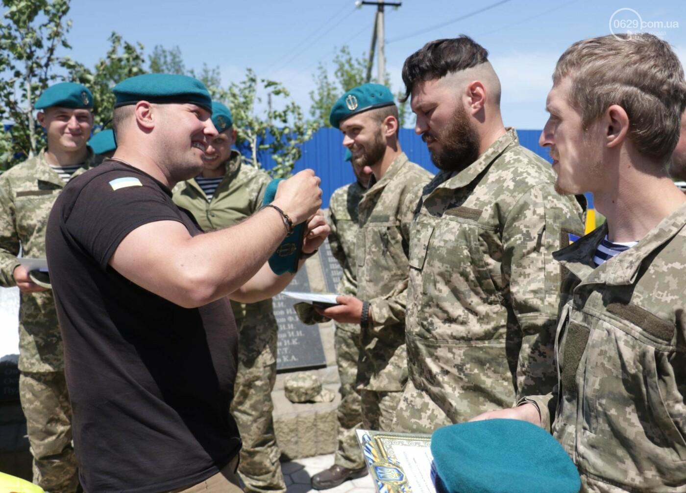Под Мариуполем морпехи  приняли присягу и получили почетный знак от волонтеров, - ФОТО, ВИДЕО, фото-5