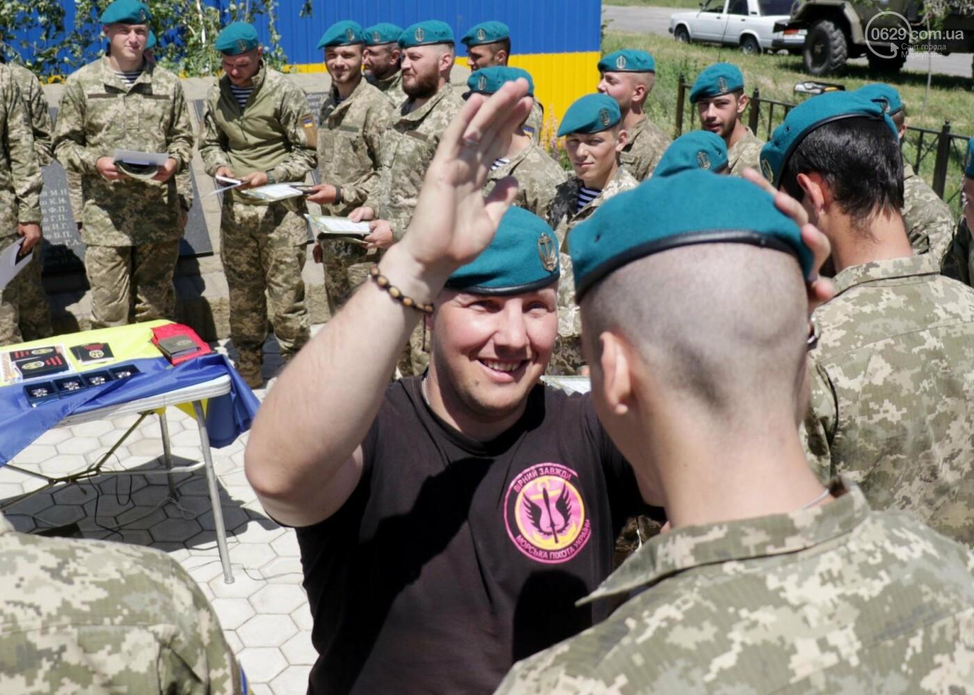Под Мариуполем морпехи  приняли присягу и получили почетный знак от волонтеров, - ФОТО, ВИДЕО, фото-4