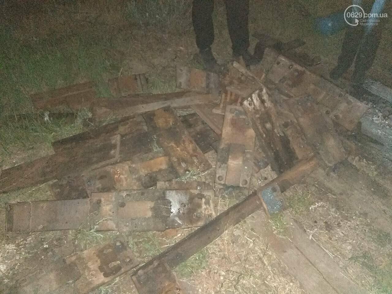 В Мариуполе сотрудники охранного предприятия задержали воров при попытке разобрать железнодорожное полотно, - ФОТО, фото-6