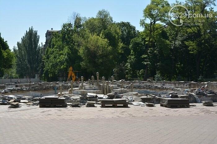 В Мариуполе разобрали главный фонтан,-ФОТО, фото-1