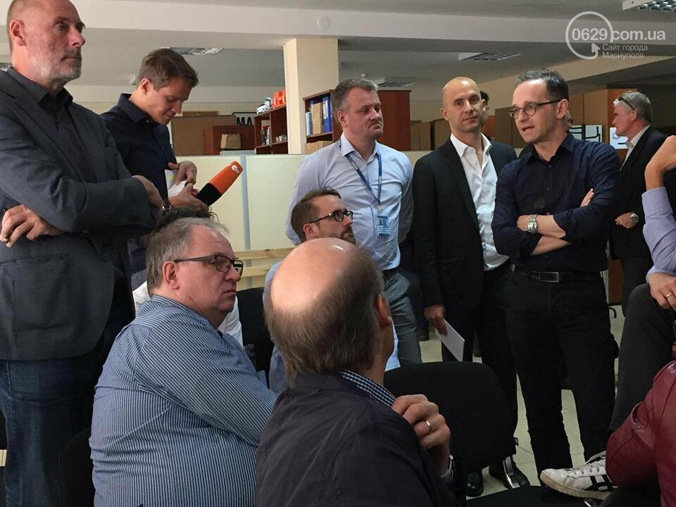 Главы МИД Германии и Украины прибыли в Мариуполь,- ФОТО, фото-3