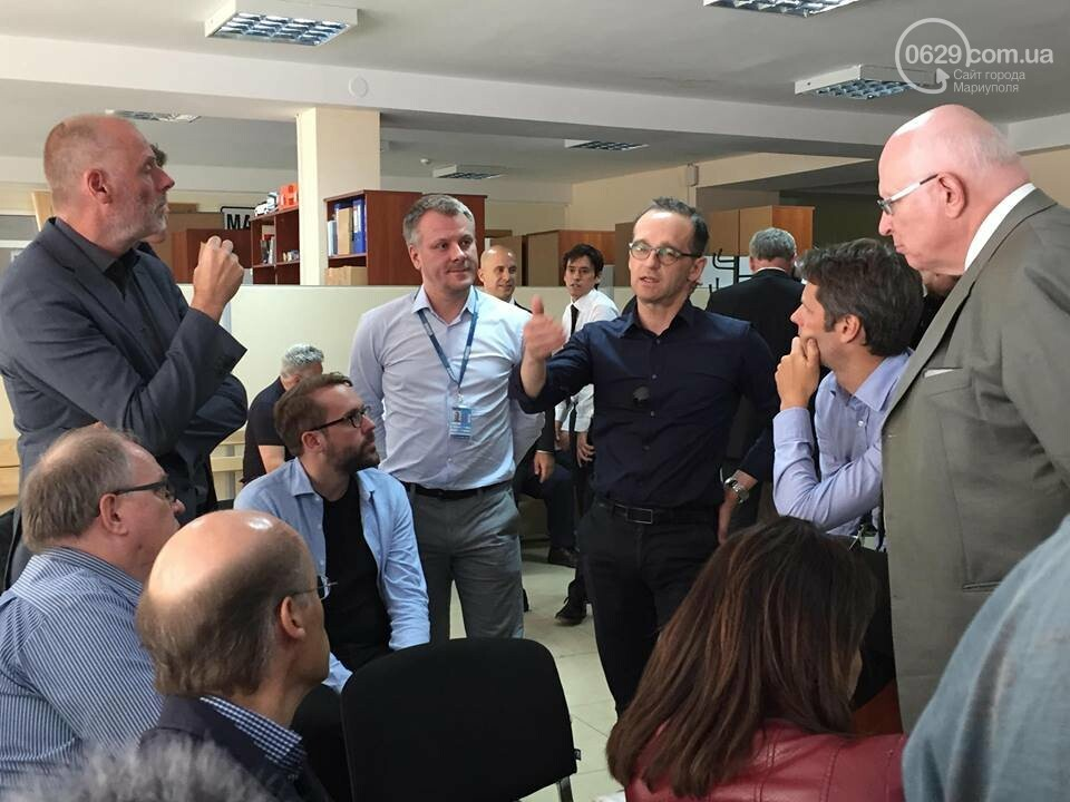 Главы МИД Германии и Украины прибыли в Мариуполь,- ФОТО, фото-2