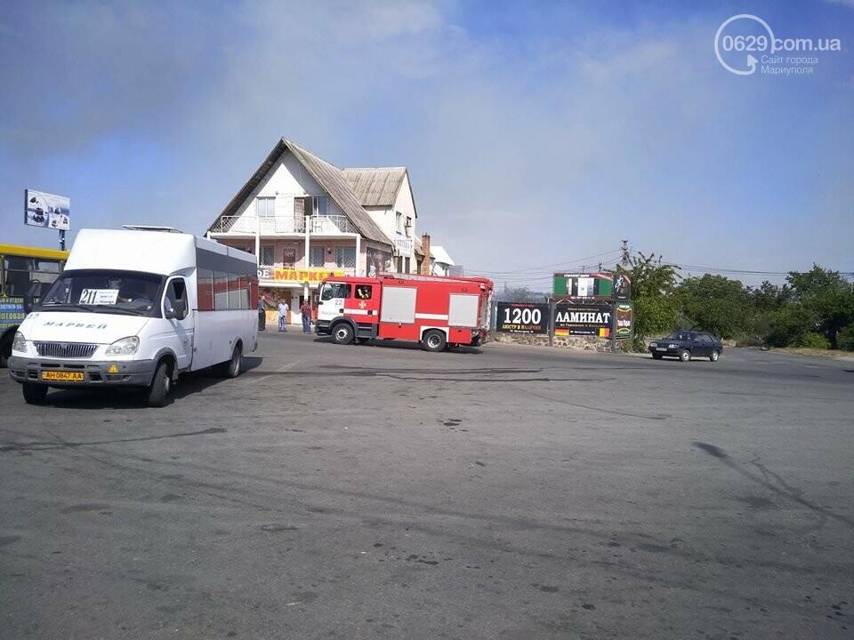 Под Мариуполем горит здание СТО, - ФОТО, ВИДЕО, фото-17