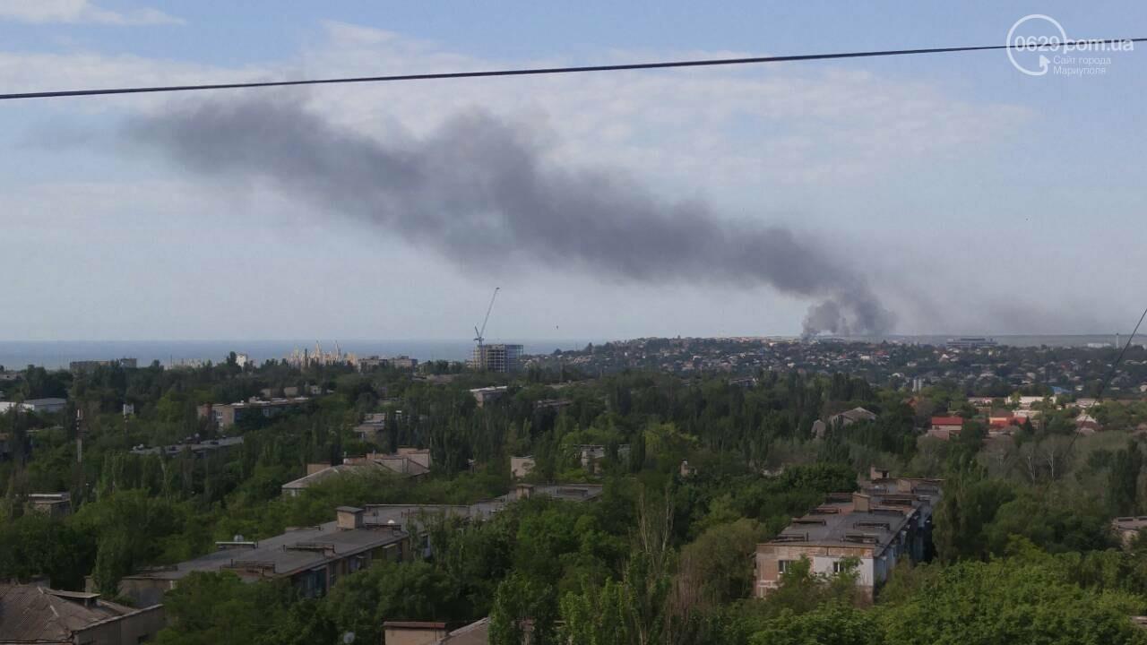 Под Мариуполем горит здание СТО, - ФОТО, ВИДЕО, фото-11
