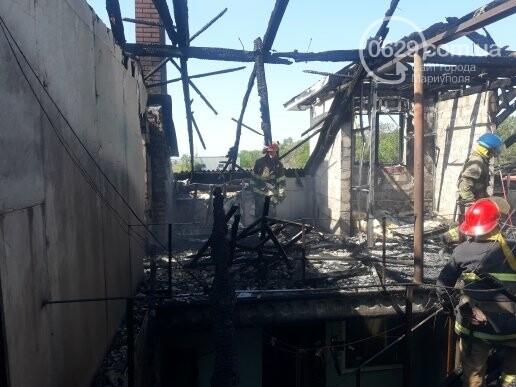 Под Мариуполем горит здание СТО, - ФОТО, ВИДЕО, фото-3