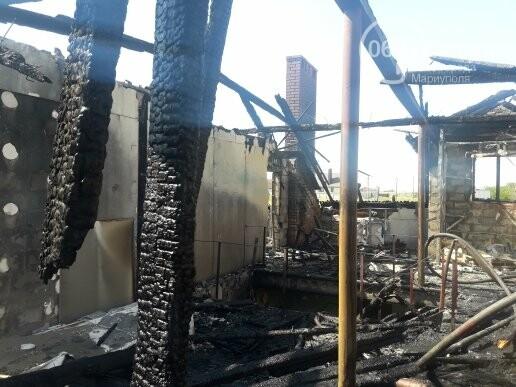 Под Мариуполем горит здание СТО, - ФОТО, ВИДЕО, фото-6