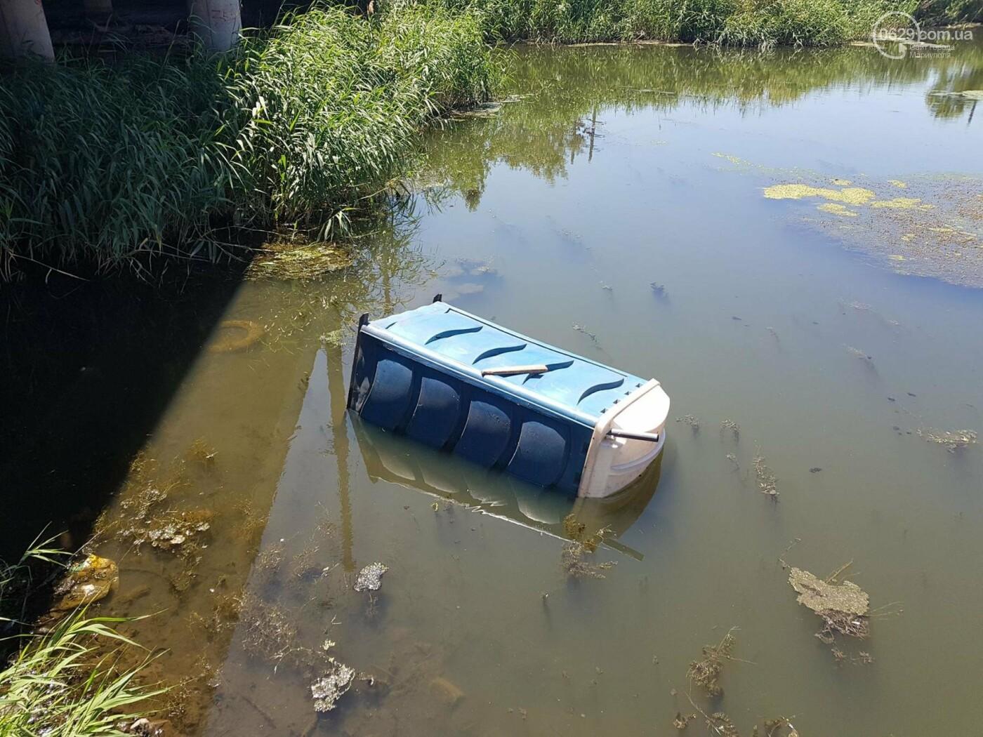 """В Мариуполе по реке плавает """"туалет-амфибия"""", -ФОТО, ВИДЕО, фото-3"""