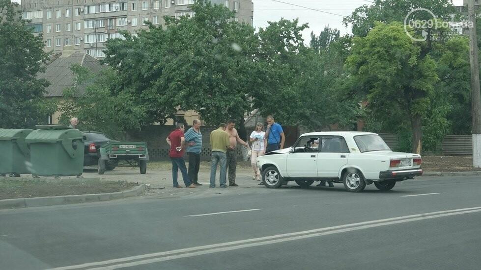 В Мариуполе не разминулись два автомобиля, - ФОТО, фото-1
