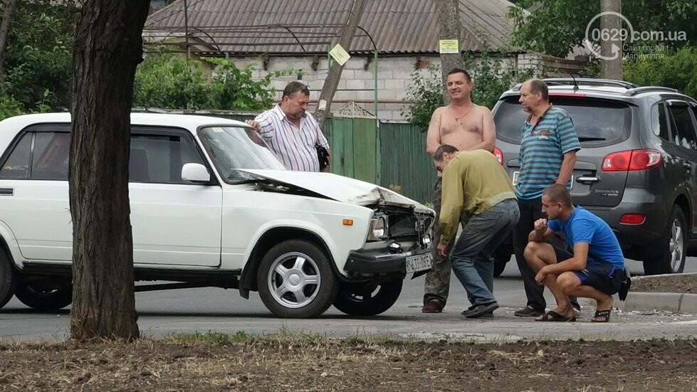 В Мариуполе не разминулись два автомобиля, - ФОТО, фото-9