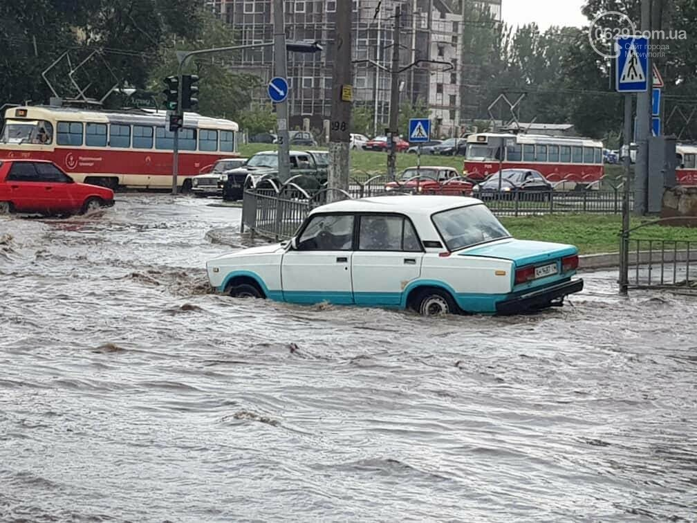 Мариупольцы оказались не подготовлены к ливню,  а площадь Кирова традиционно затопило, - ФОТО, ВИДЕО, фото-3