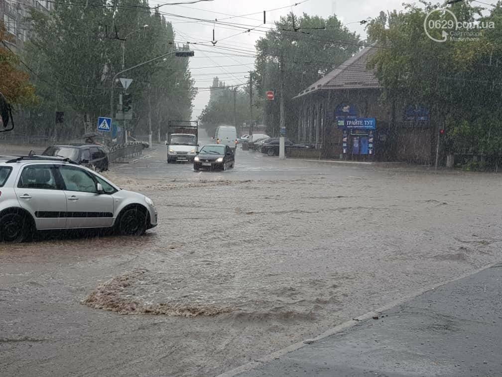 Мариупольцы оказались не подготовлены к ливню,  а площадь Кирова традиционно затопило, - ФОТО, ВИДЕО, фото-2