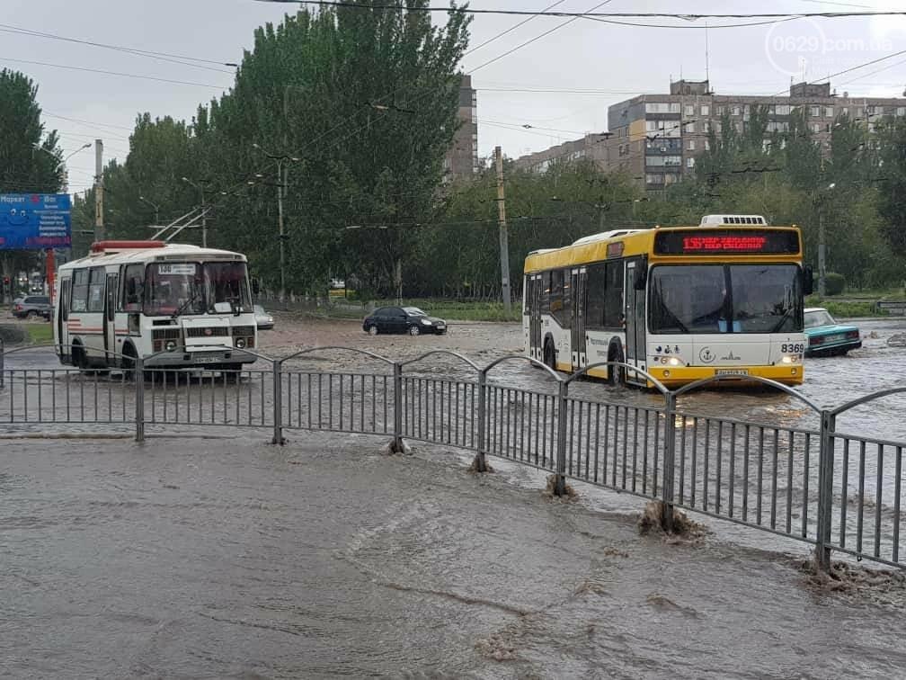 Мариупольцы оказались не подготовлены к ливню,  а площадь Кирова традиционно затопило, - ФОТО, ВИДЕО, фото-4