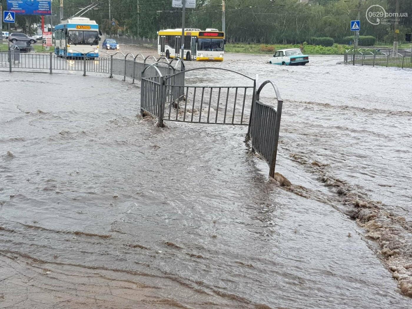 Мариупольцы оказались не подготовлены к ливню,  а площадь Кирова традиционно затопило, - ФОТО, ВИДЕО, фото-7