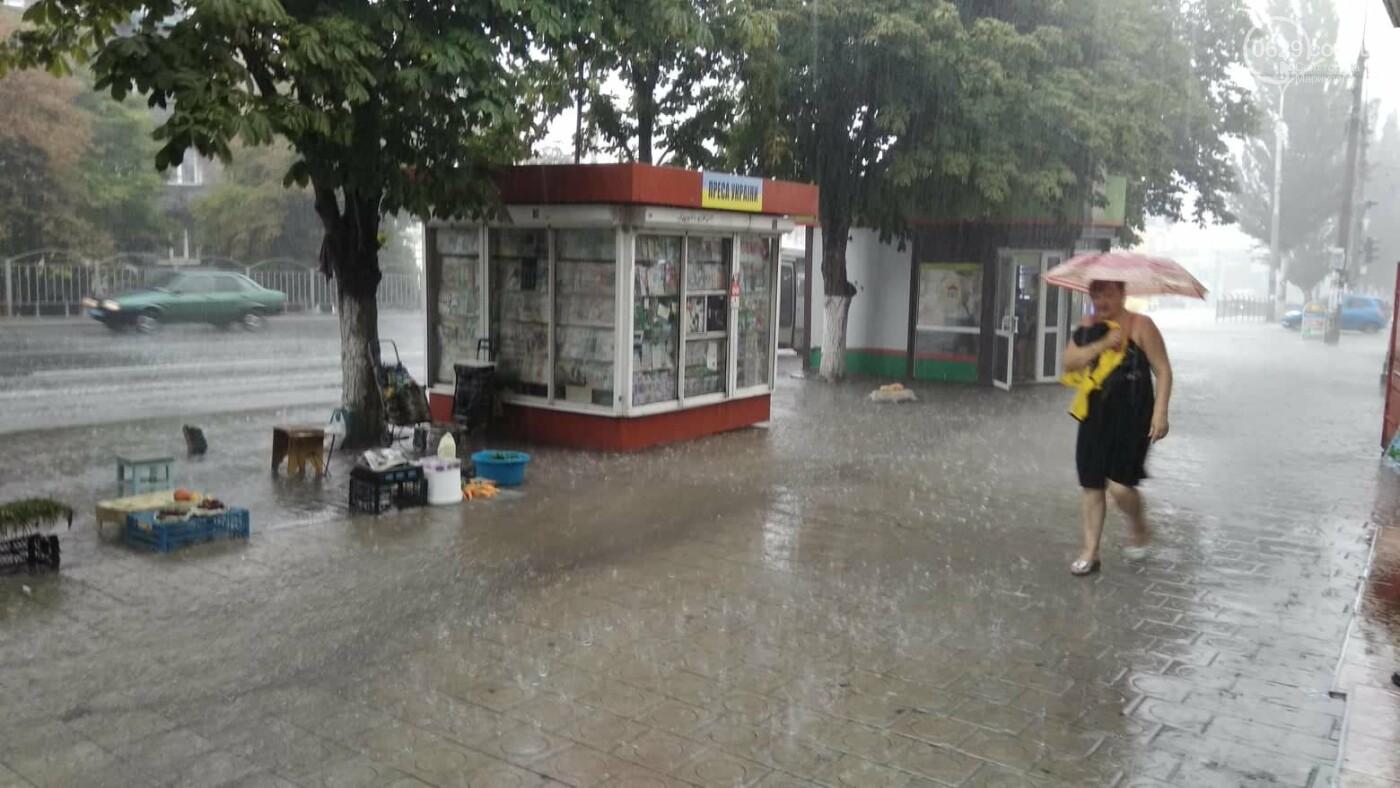 Мариупольцы оказались не подготовлены к ливню,  а площадь Кирова традиционно затопило, - ФОТО, ВИДЕО, фото-11
