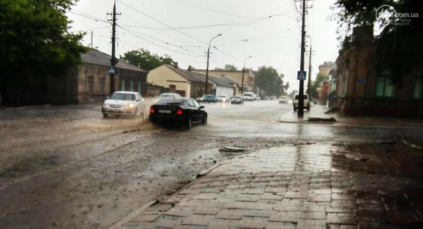 Мариупольцы оказались не подготовлены к ливню,  а площадь Кирова традиционно затопило, - ФОТО, ВИДЕО, фото-14