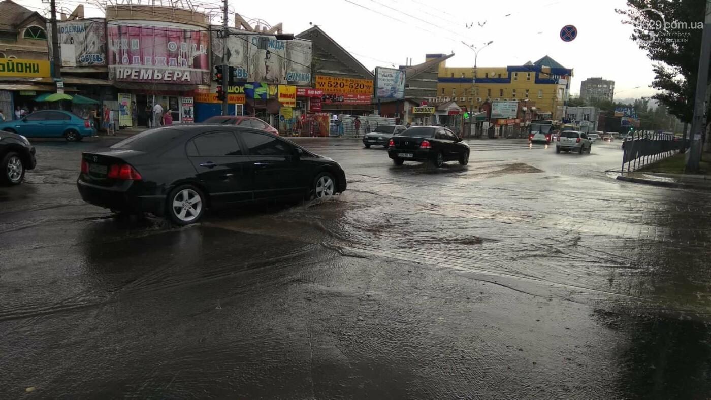 Мариупольцы оказались не подготовлены к ливню,  а площадь Кирова традиционно затопило, - ФОТО, ВИДЕО, фото-10
