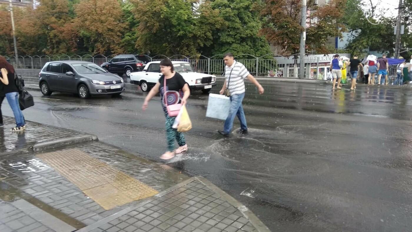 Мариупольцы оказались не подготовлены к ливню,  а площадь Кирова традиционно затопило, - ФОТО, ВИДЕО, фото-9