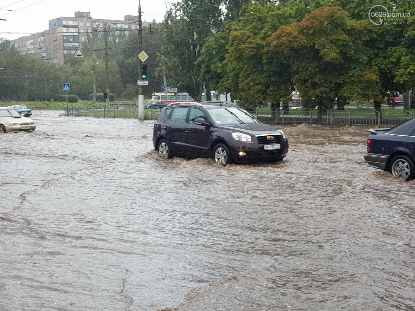Мариупольцы оказались не подготовлены к ливню,  а площадь Кирова традиционно затопило, - ФОТО, ВИДЕО, фото-8
