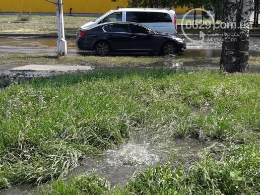 В Мариуполе канализационные стоки затопили дорогу. Стоит жуткая вонь,- ФОТО, фото-1
