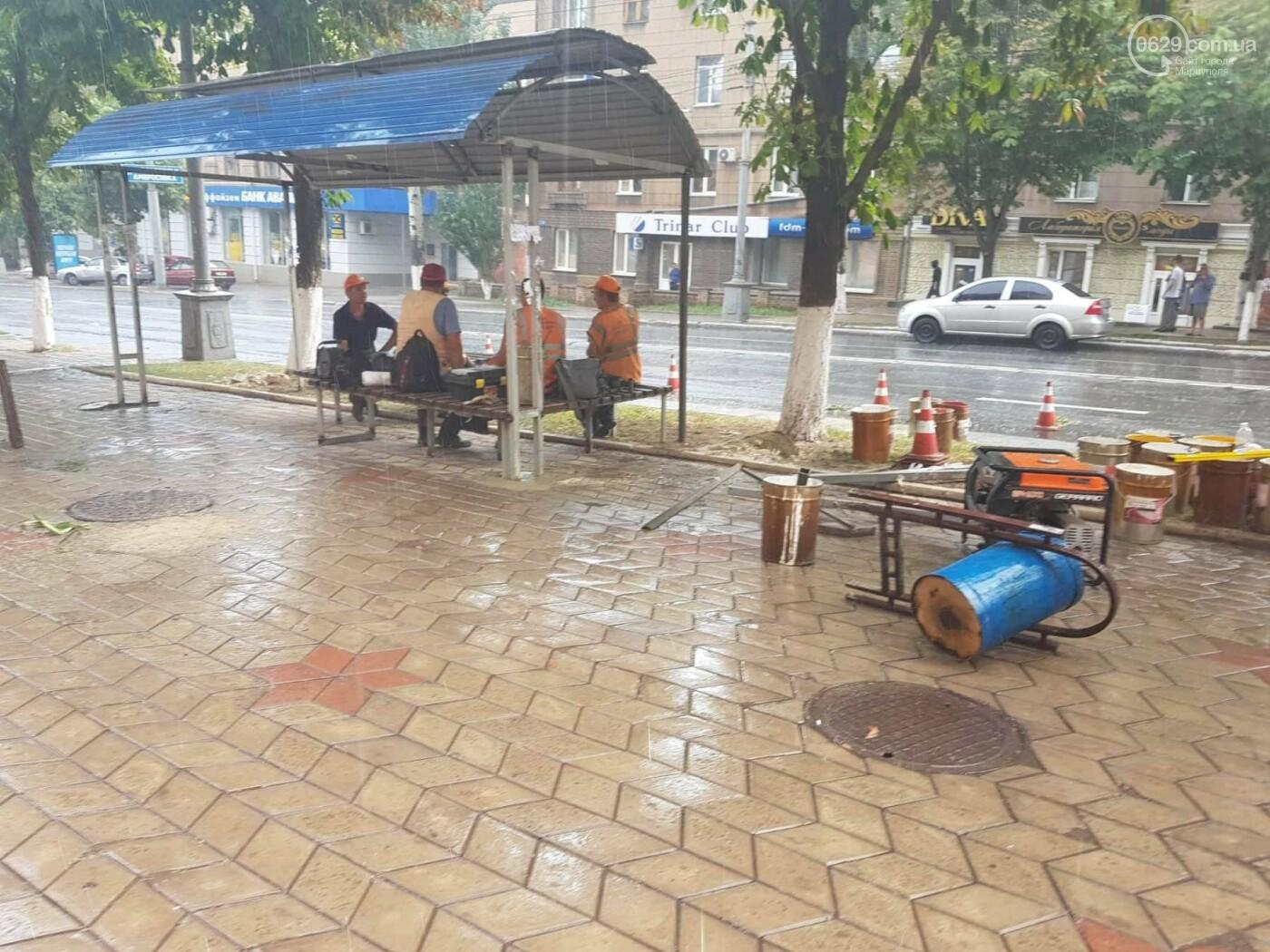 В центре Мариуполя остановочные павильоны передвинут на  новое место,- ФОТО, фото-1