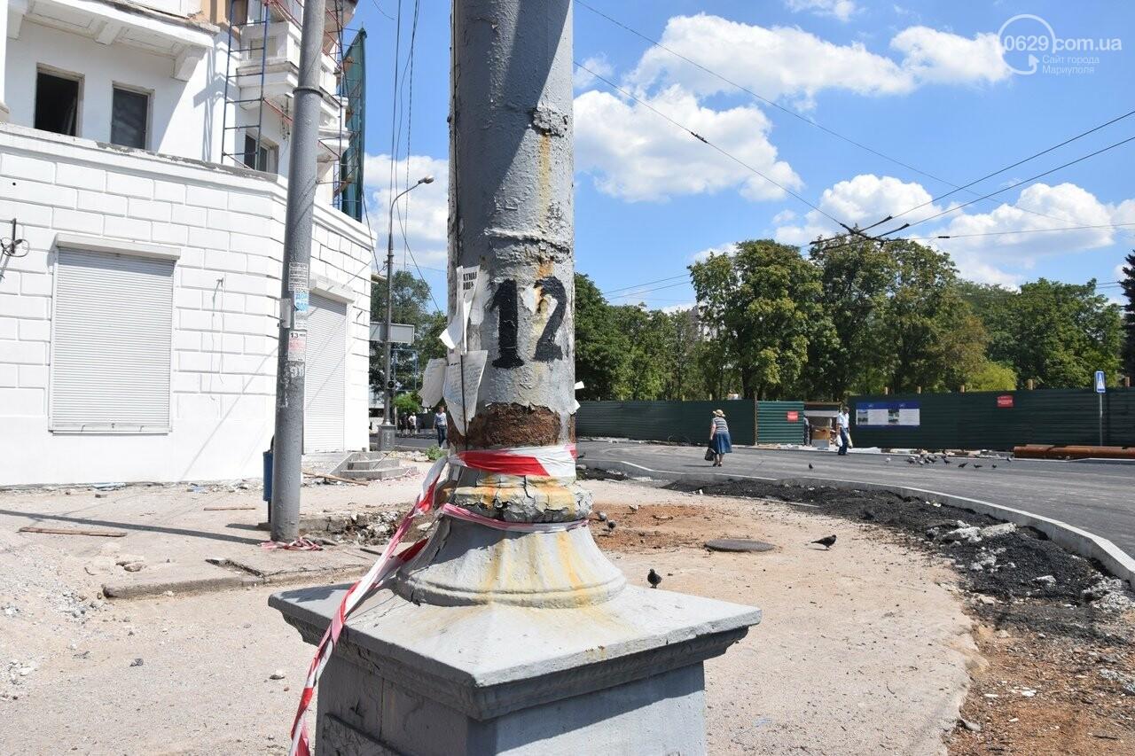 """""""Соскребли, как смогли"""". Как в Мариуполе центр города реконструируют, - ФОТОРЕПОРТАЖ, фото-11"""