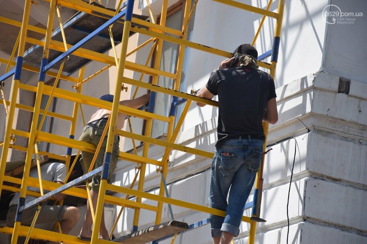 """""""Соскребли, как смогли"""". Как в Мариуполе центр города реконструируют, - ФОТОРЕПОРТАЖ, фото-26"""