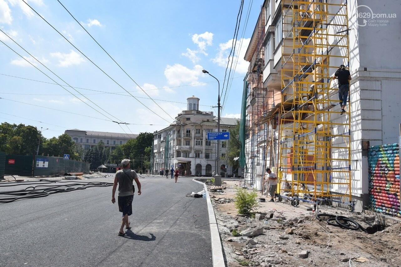 """""""Соскребли, как смогли"""". Как в Мариуполе центр города реконструируют, - ФОТОРЕПОРТАЖ, фото-43"""