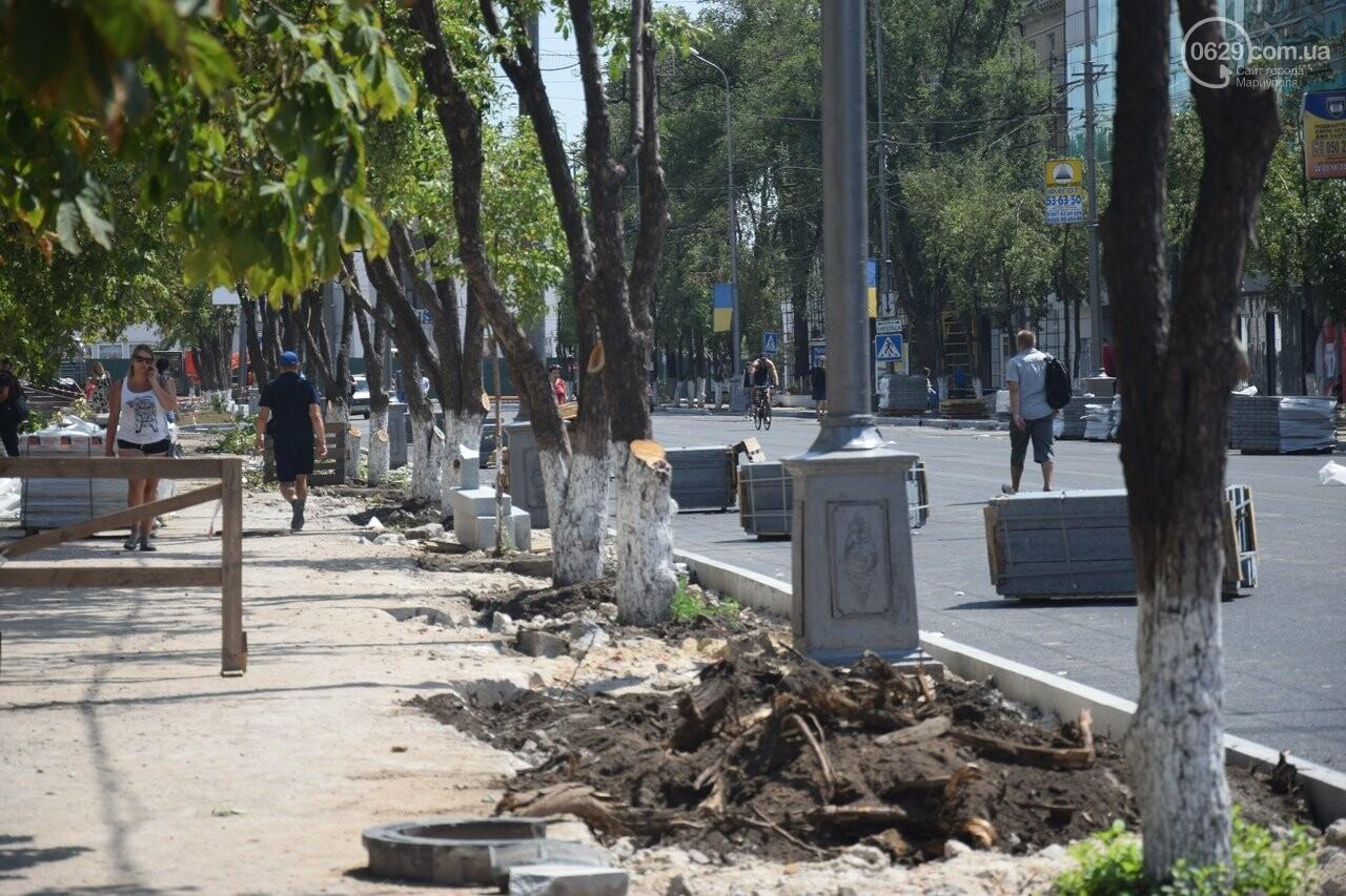 """""""Соскребли, как смогли"""". Как в Мариуполе центр города реконструируют, - ФОТОРЕПОРТАЖ, фото-33"""