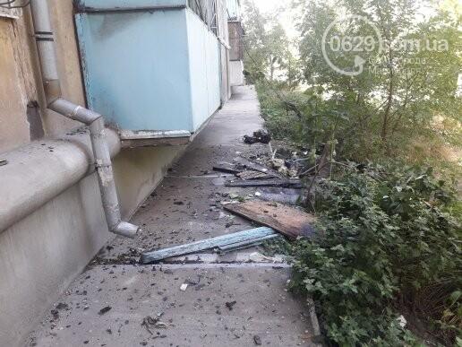 В мариупольской пятиэтажке из-за искры загорелся балкон, - ФОТО, фото-2