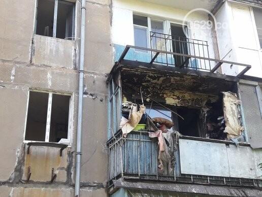 В мариупольской пятиэтажке из-за искры загорелся балкон, - ФОТО, фото-3
