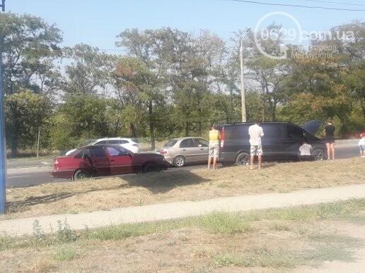 В Мариуполе не разминулись микроавтобус Mercedes и Daewoo, - ФОТО, фото-2