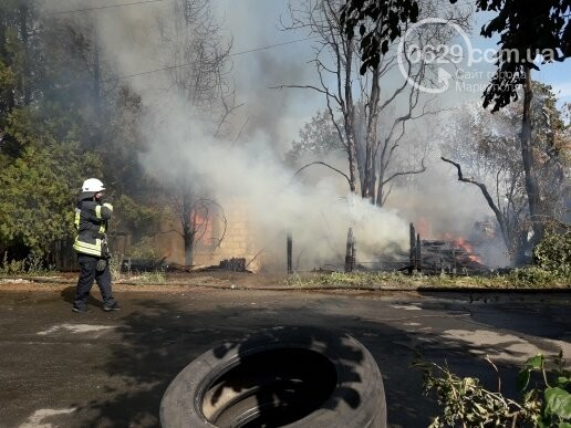 В Мариуполе тушат масштабный пожар, - ВИДЕО, ФОТО, фото-9