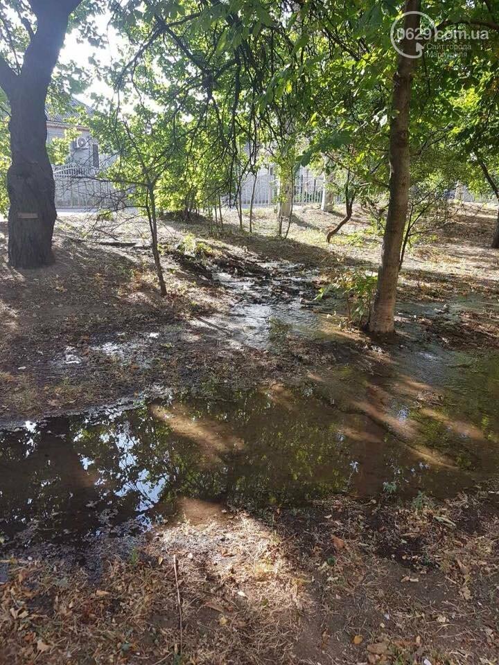 В Мариуполе вода подмывает фундамент дома по ул. Новороссийской, - ФОТО, ВИДЕО, фото-5