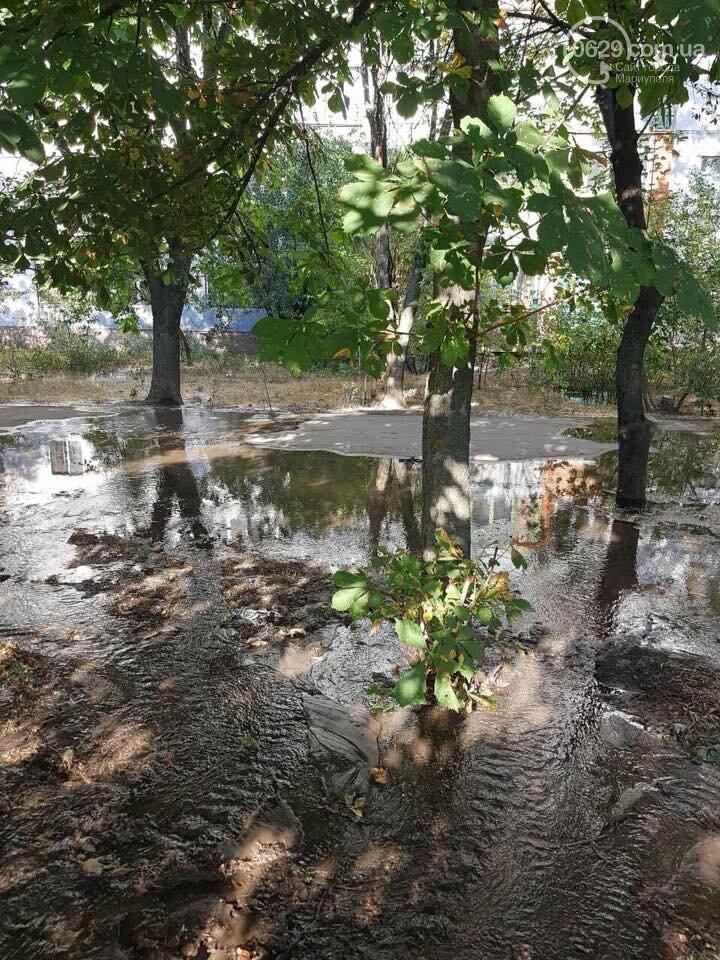В Мариуполе вода подмывает фундамент дома по ул. Новороссийской, - ФОТО, ВИДЕО, фото-8